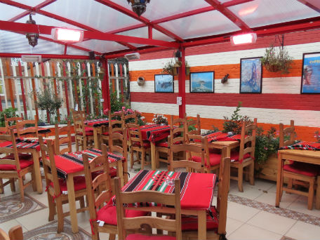 Heaters installed at Tarboush cafe